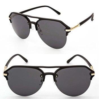 f9d22dad48cf hotsales S1862 high quality UV400 polarized pilot style anti-slip outdoor  travel oversize mirror sunglasses
