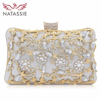 NATASSIE 2018 New Women Purse Top Quality Ladies Evening Bags Box Clutch Female Clutches Wedding Bag box clutch purse