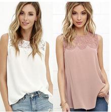 T Hot 2019 summer new women round neck sleeveless large size Rayon T-shirt openwork crochet lace vest цена 2017