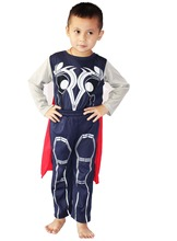 wholesale& retail-Halloween costumes Children's Cosplay clothing Role-playing boy The thor model clothing (Coat + pants + shawl)