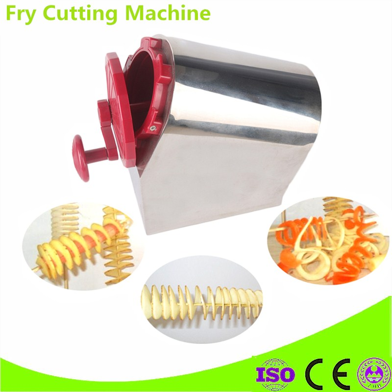 Brand New Stainless Steel Manual Twisted Potato Cutter,High Quality Spiral Potato Slicer, French Fry Cutting Machine руководство twisted картофеля фри из нержавеющей стали slicer овощей