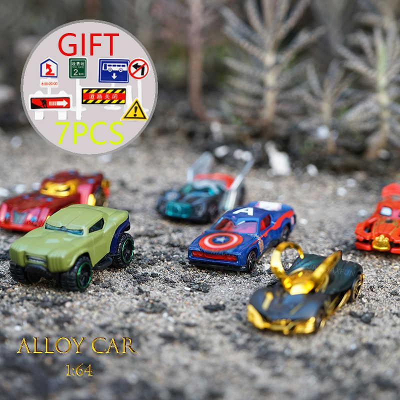 Dropshipping de 6 pcs Carros de Brinquedo Carro De Brinquedo de Metal Super Herói Aquaman Justiça Leaguea Diecast 1: carro liga 64 Coleções