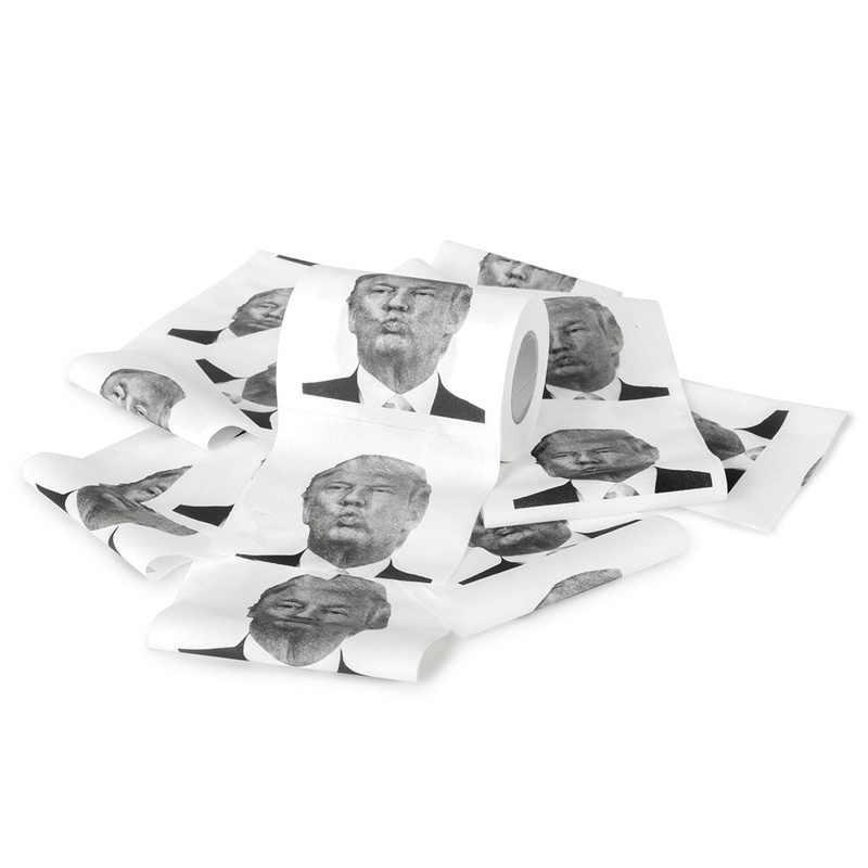 1 шт. Клинтон Дональд Трамп тонкая оберточная бумага туалетной бумаги Забавный ролл Шуточный розыгрыш Подарочная коробка-держатель для салфеток