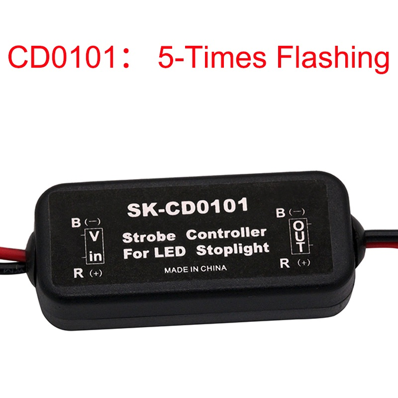 GS-100A Newest Flash Universal Strobe Controller Flasher Module for LED Brake Stop Light Lamp 9-30v DC