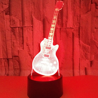 3D LED Night Light Musical Instruments Guitar With 7 Colors Light For Home Decoration Lamp Amazing