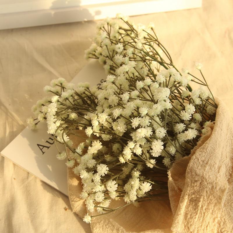 1 pcs wholesale artificial 3 forks babysbreath flowers arrange for wedding home decoration