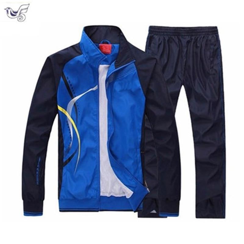 XIYOUNIAO New Men's Set Spring Autumn Men Sportswear 2 Piece Set Sporting Suit Jacket+Pant Sweatsuit Men Clothing Tracksuit Set