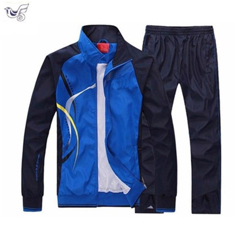 ef6994989 XIYOUNIAO nuevo conjunto de hombres primavera otoño ropa deportiva para  hombre conjunto de 2 piezas ...