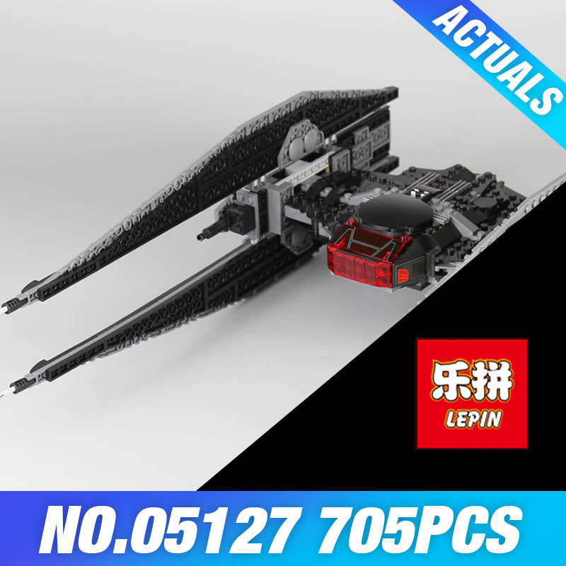 Lepin 05127 The Tie Model Fighter Set 705Pcs Star Plan Series 75179 War Building Blocks Bricks Educational DIY Christmas Gifts 2015 high quality spaceship building blocks compatible with lego star war ship fighter scale model bricks toys christmas gift