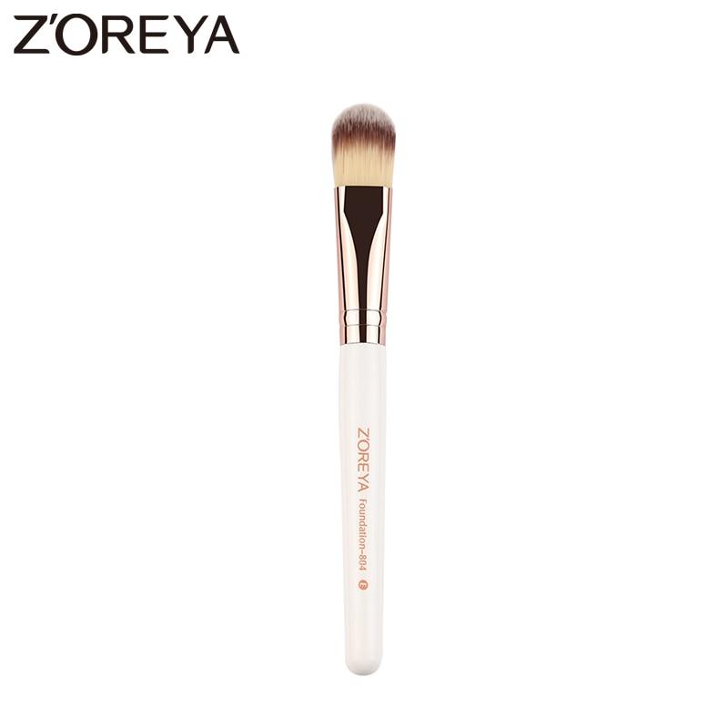 Zoreya Brand New arrive High quality white wooden handle Make up brush Foundation brush for women cosmetic make up tool marsnaska brand new white