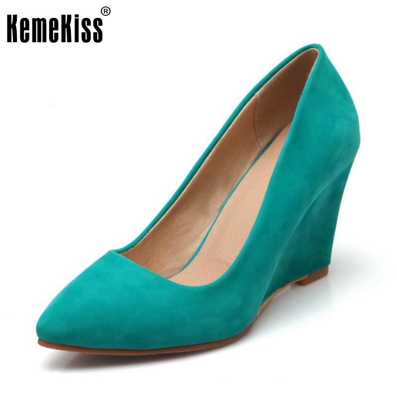 Vintage Spring Women Wedge Pumps Elegant Slip-on High Heels Shoes Sexy Pointed Toe Ladies Fashion Zapatos Mujer Shoes Size 33-43 стоимость