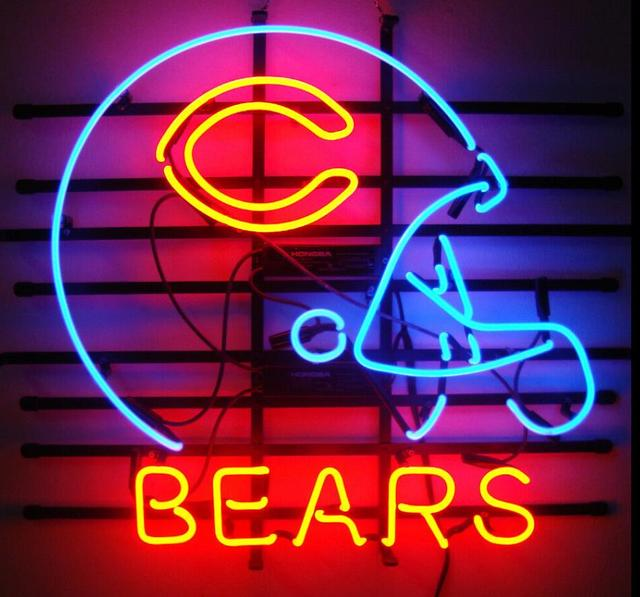 Custom Chicago Bear Neon Light Sign Beer Bar