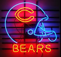 Custom Chicago Bear Glass Neon Light Sign Beer Bar