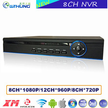 8CH*1080P/12CH*960P Onvif NVR Network Video Recorder XMeye Hisiclion Chip Metal Case for CCTV security IP camera freeshipping