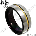 Free Shipping  Fashion Mens Black silver yellow gold  Tungsten Carbide Ring  Brush Top Hot Sales Jewelry Finger Ring 8mm