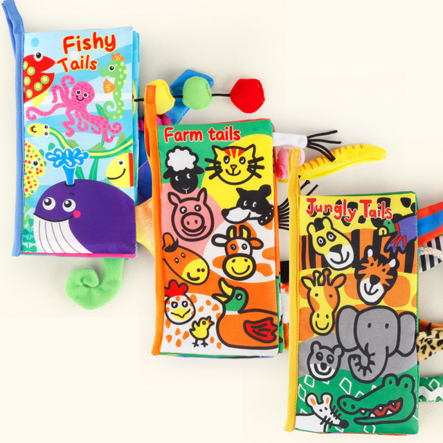 Baby Toys 0 12 Months 13 24 Months Cartoon Soft Baby Cloth Books