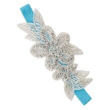 MYPF-1 PC Headbands Rhinestone Flower Hair Accessories For Girls Hair Band