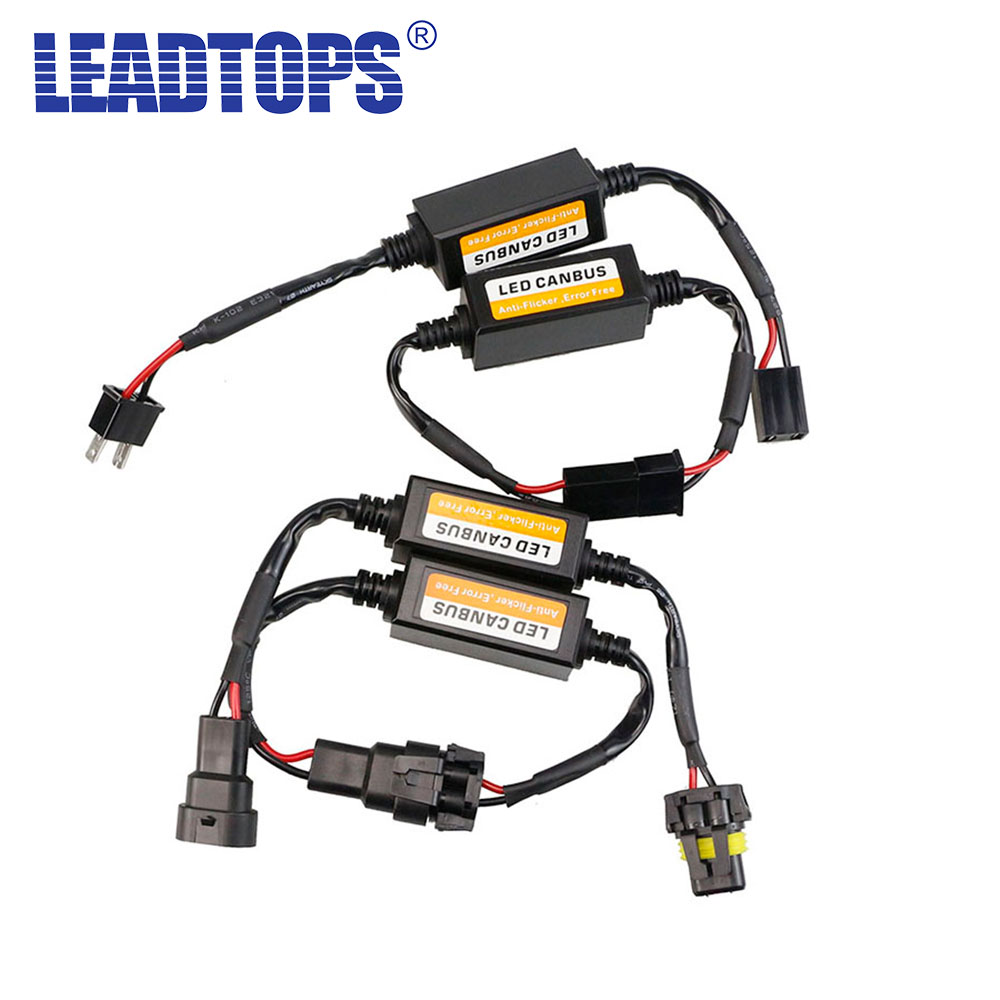 H1 H3 H7 H4 H11 9003 9004 9005 9006 9007 Canbus Wiring Harness Adapter LED Car Headlight Bulb Auto Headlamp Fog Light CANBUS BJ partol h4 h13 h7 h8 h9 h11 hb3 9005 hb4 9006 car led headlight bulbs canbus fog lamp light decoder resistor wire harness adapter