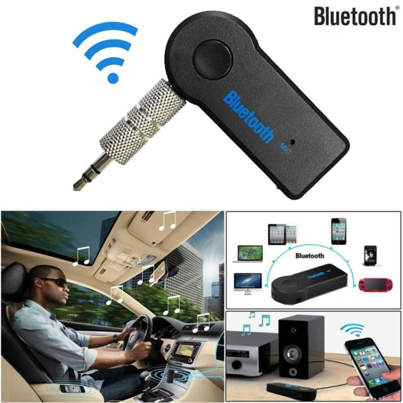 Wireless Bluetooth 3.5mm AUX Audio Stereo Music Home Car Receiver Adapter Mic#LD