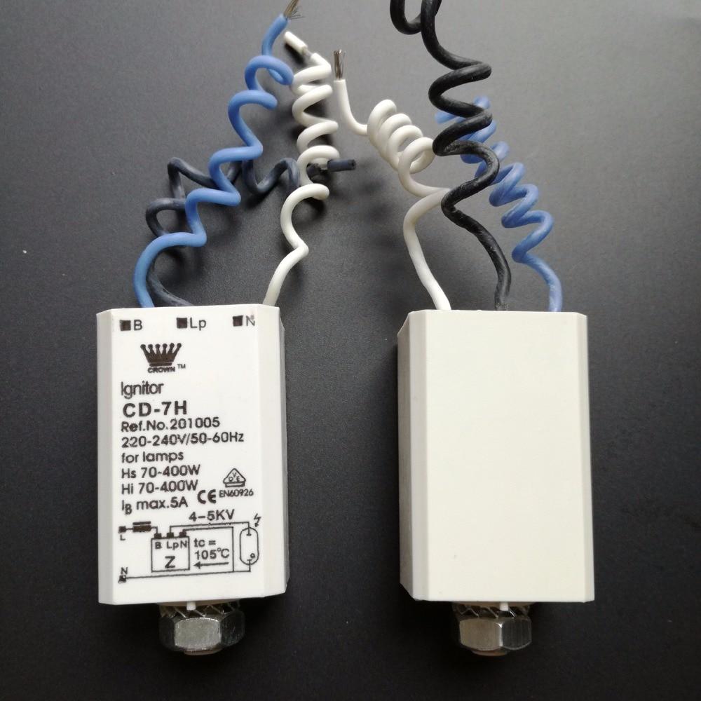 2Pcs Electronic Ignitor Starters For HID HPS Lamps Metal Halide Light 70-400w CD-7H 220-240v 50-60hz