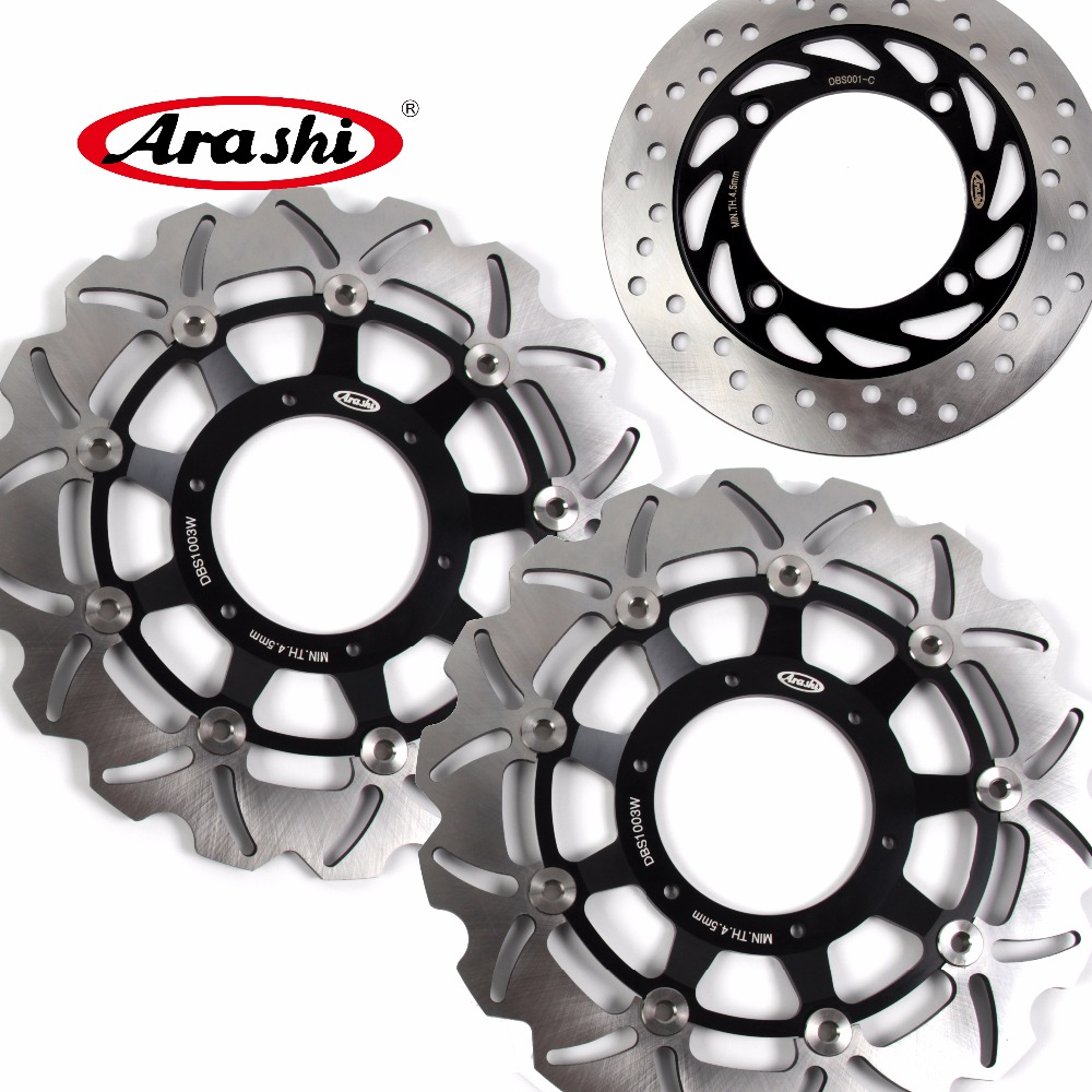 Arashi 1 Set For HONDA CB F HORNET 900 2002 2003 2004 2005 2006 CBF HORNET 900 Front Brake disk & Rear Brake Disc Rotor arashi cnc rear brake disc brake rotors for honda cb250 cb400 cb500 cb500s 1991 2000 2001 2002 2003 2004 2005 2006