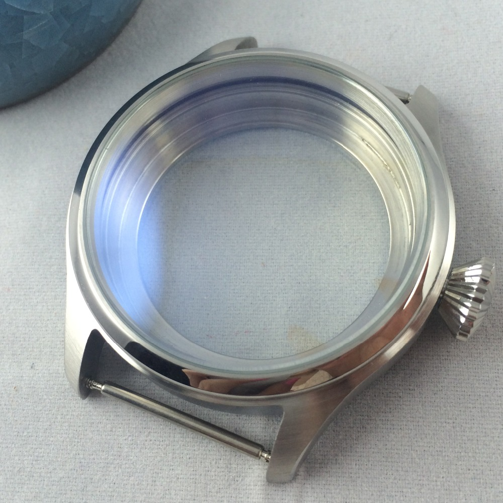 47mm 316L Stainless Steel Case Fit ETA 6497 6498 Seagull st36 movement MenCase47mm 316L Stainless Steel Case Fit ETA 6497 6498 Seagull st36 movement MenCase