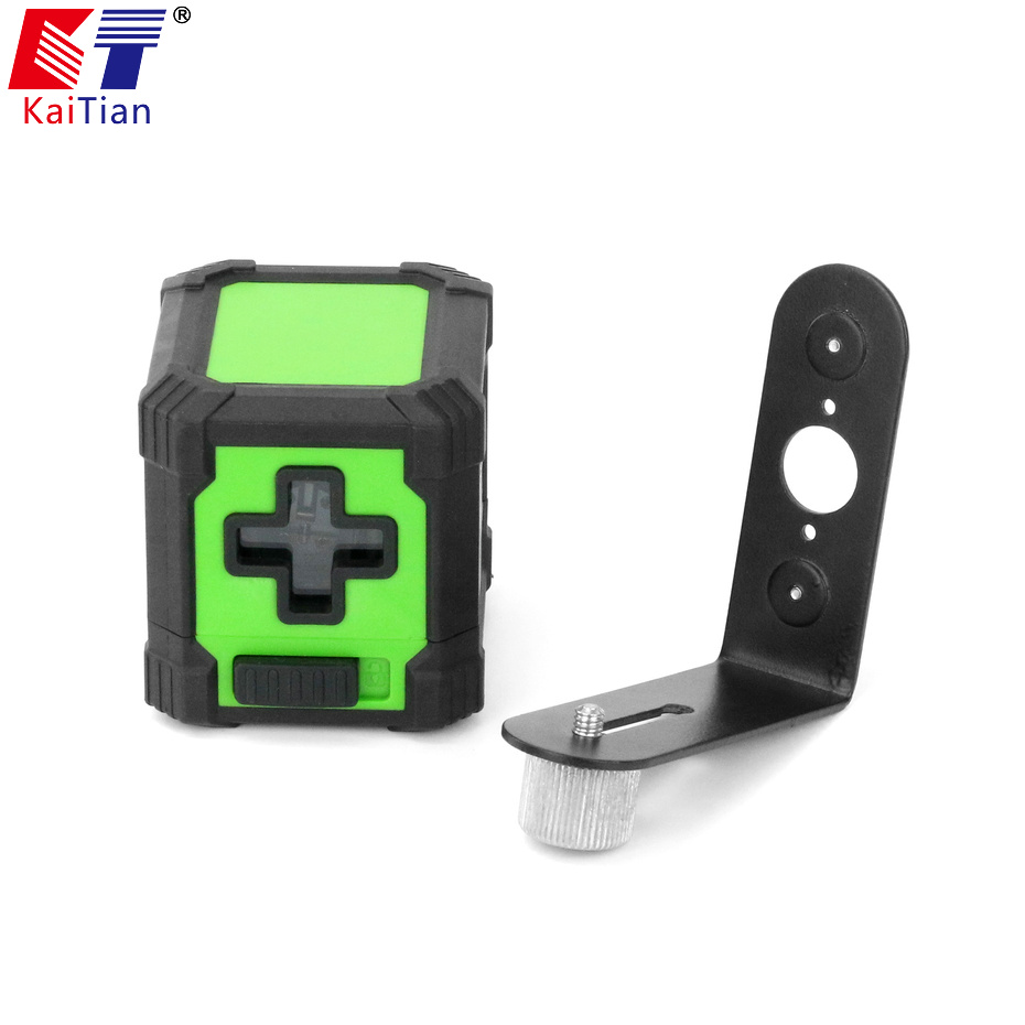Kaitian Laser Level 2 lines Self Leveling Horizontal Vertical Mini Lazer Level Green Light Portable Magnetic Bracket Line Laser high quality southern laser cast line instrument marking device 4lines ml313 the laser level