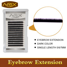 New Arrival 2016 Fashion 10pcs Dark color Eyebrow Extension Individual Mink Eyebrows Artificial Fake False Eyebrows A-RIX Brand