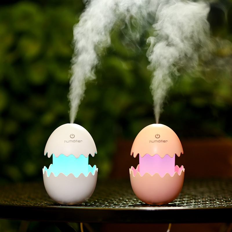egg USB Ultrasonic Humidifier with Night Light LEDs Lamp Mini Air Humidifiers Air purifier Aroma essential oil Diffuser