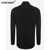 COOFANDY Mens Casual Solid Long Sleeve Slim Button Down Collar Fashion Shirt