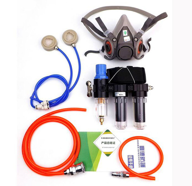 2 In 1 Industrie Funktion Geliefert Air Federal Atemschutzmaske System Mit 6200 Half Face Labor Chemische Gasmaske