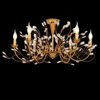 American Restaurant Bedroom Iron Crystal Chandelier Golden Crystal Chandelier Lighting
