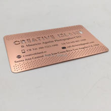 wholesale high quality customized rose gold plated stainless steel metal mirror business card цена