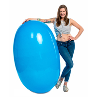 GL800 40inch 100cm Round Giant Zeppelin Airship Balloon Round Egg Shape Inflatable Balloon Toys Party Decorations Adult