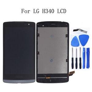 Image 1 - מקורי LCD עבור LG ליאון H340 h320 h324 H340N H326 MS345 C50 LCD תצוגת מסך מגע עם מסגרת ערכת תיקון החלפה + כלים