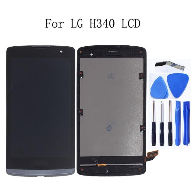 الأصلي LCD ل LG ليون H340 h320 h324 H340N H326 MS345 C50 شاشة إل سي دي باللمس الشاشة مع طقم تصليح الإطار استبدال + أدوات