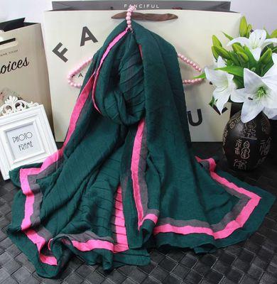 Горячая продажа прямоугольной формы Miyake плиссированные Лоскутные хлопковые шарфы в наличии