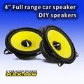 Alta calidad 4 pulgadas de gama completa bass altavoces estéreo de automóvil con cono amarillo borde esponja de alta sensibilidad 87dB