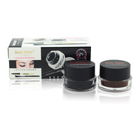 Best 2 In 1 Brown Black Gel Eyeliner Make Up Water Proof And Smudge Proof Cosmetics