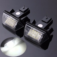 2PCS 18 LED SMD License Number Plate Light Car Refitting Accessories For Peugeot 206 207 306