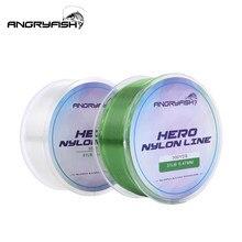 Angryfish Hero 3 renk 300YD 0.12mm-0.47mm naylon olta Monofilament malzeme süper güçlü sazan olta 2-35LB