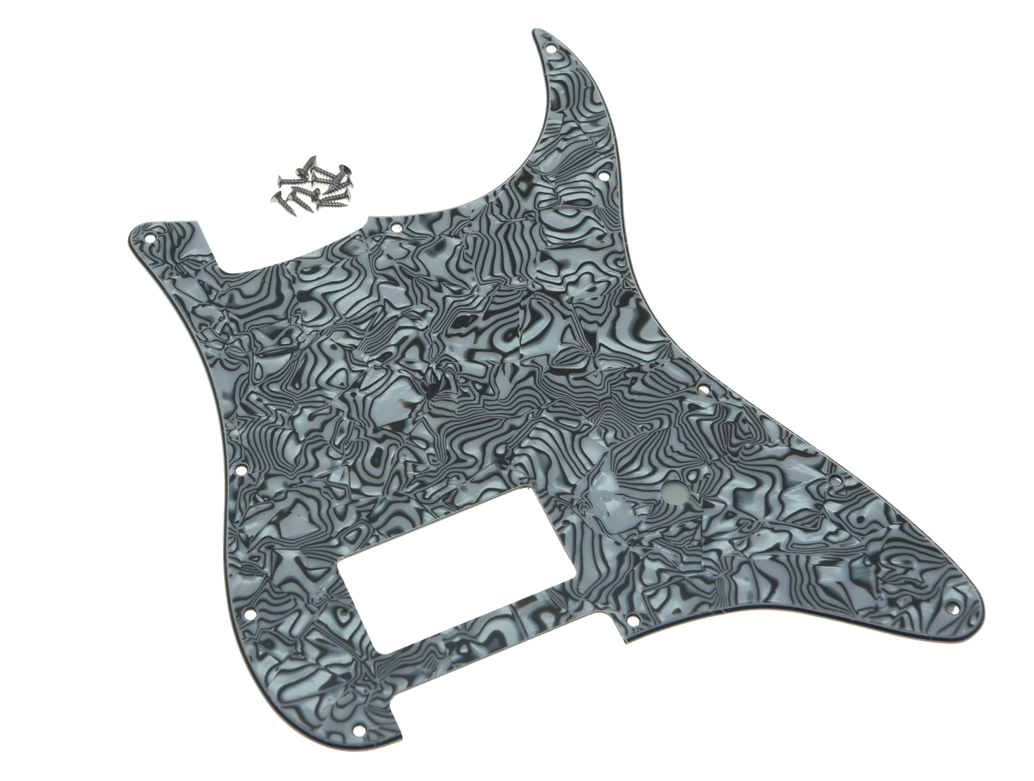 KAISH 11 Hole Strat One Humbucker Guitar Pickguard with screws Scratch Plate Fits Fender Delonge Stratocaster Guitar