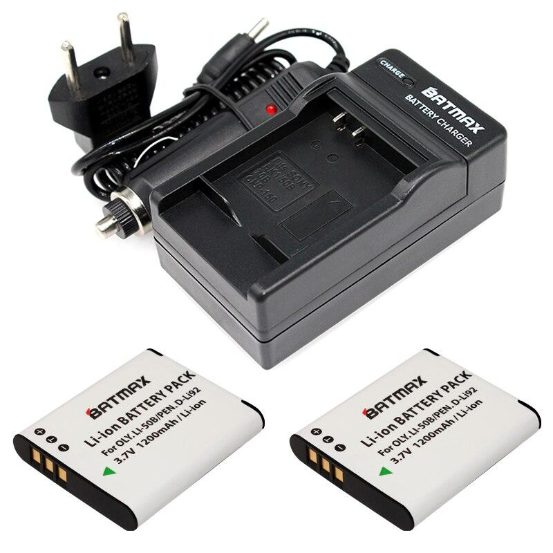Batteries1200mah plus Duplo USB para Selecionar 2 PCS Li-50b-high Capacity Substituição Carregador Olympus Stylus Tough Series Câmeras Digitais