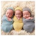 Bebé Accesorios de Fotografía Manta Rayón Wraps Stretch Knit Wrap Newborn Foto Wraps Swaddling Relleno Protuberancia Pequeña Wraps35 * 150 cm Hamaca