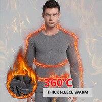 2018 Thick Fleece Winter Long Johns Men Warm O Neck Thermal Underwear Men Casual Streetwear Long John Homme Thermal Wear Male