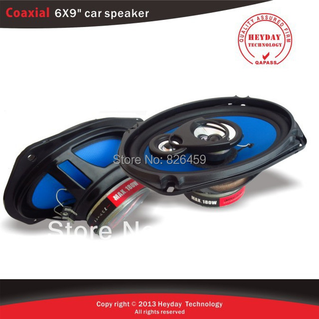 """6X9 """" inch coaxial car speaker with ABS eries mesh enclosure and Blue injection cone"""