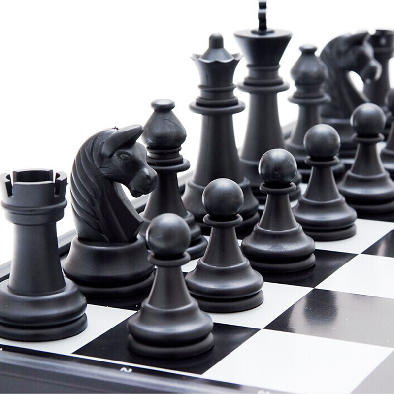 Folding Magnetic Chess Set Portable 24.5mm*24.5mm Board Games Funny Educational Toy For Children 2 Color Travel Game