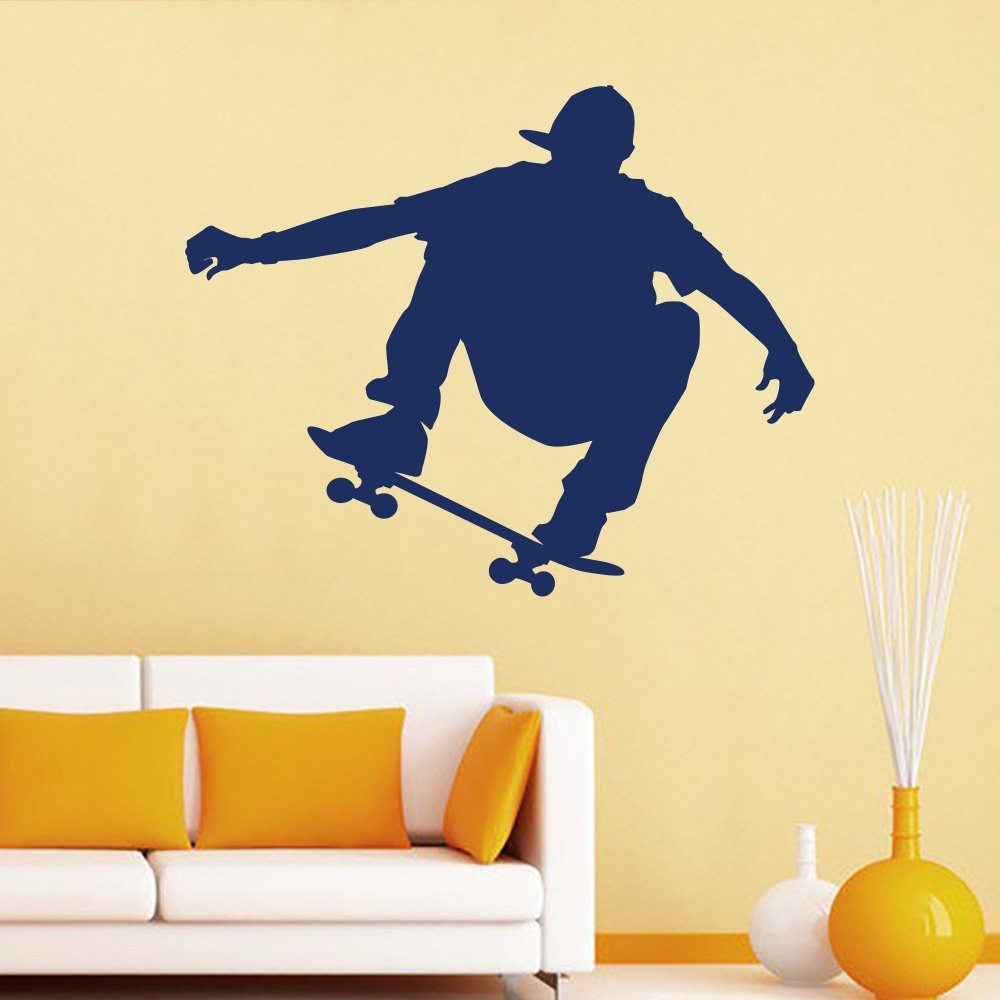 Skateboarder Wall Decals Removable Mural Sport Art Vinyl Stickers ...