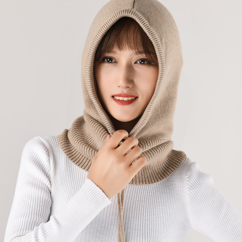 8b374b87bee Cashmere Hooded Scarf Female 2018 Women's Winter Hat Collar Set Th...