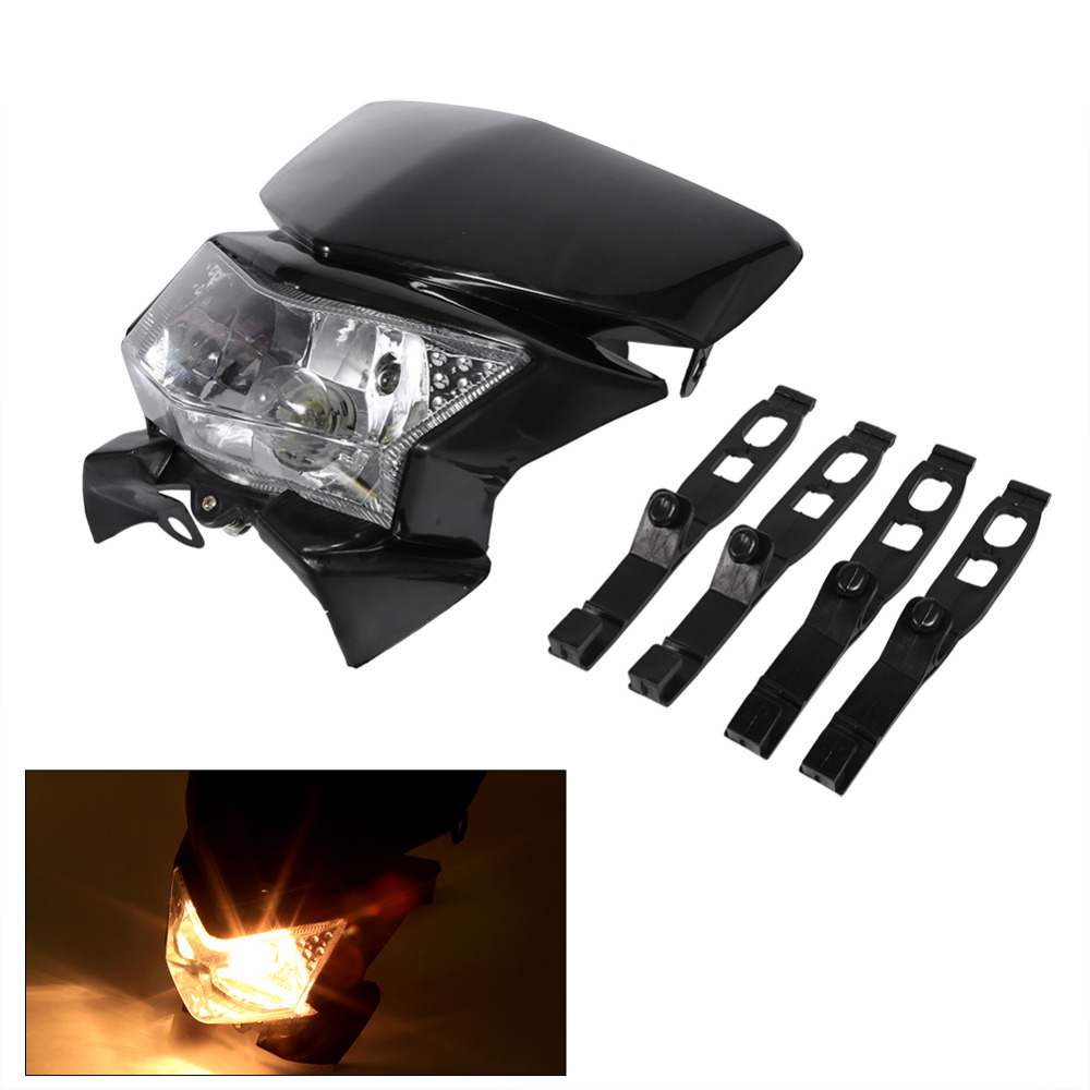 Motorcycle Headlight Modified Accessories Headlight Lamp Motorbike Dirt Bikes Head Lamp Mask Refires 4wd For Yamaha For Honda modified motorcycle accessories refires horn trolley belt oil pump cnc general horn refires